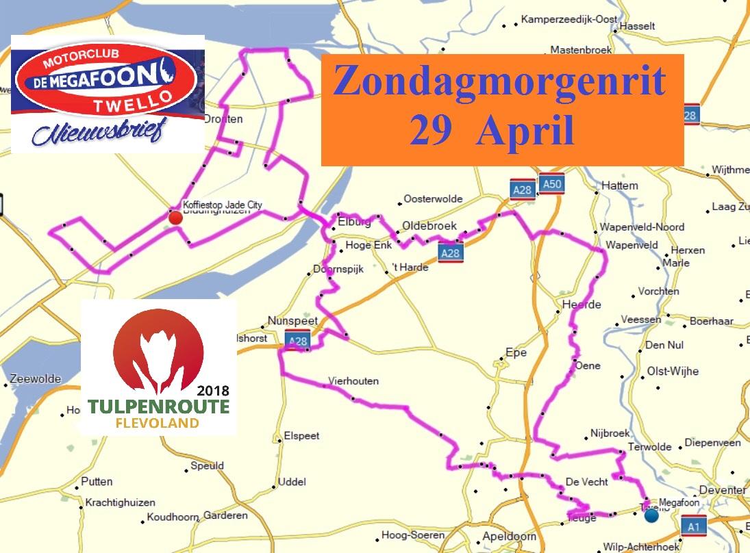 Tulpen route Zondagmorgen 29 april